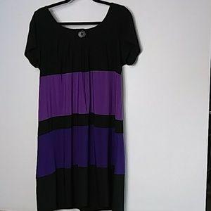 Tiana B color block sheath dress